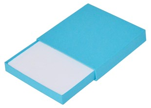Medium Bright Blue Matchbox Style Box 95 x 95 x 15mm (MTCHMEBB)