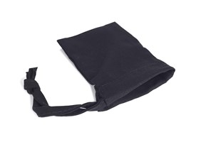 Small Black Drawstring Bag With One Sided Drawstring 90 x 55mm  - Pack of 10 (TCB0609BL)