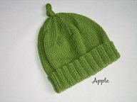 Beanie - Fold up Brim with Top Knot