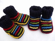 TWIN striped Bootees