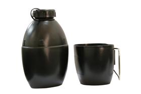 58 Pattern Water Bottle with Cup Canteen Cadet Mug