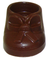 Small Chocolate Baby Bootie
