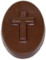 Chocolate Cross on Oval - 2-Count
