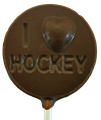 Chocolate Hockey Sucker