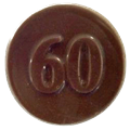 60 Chocolate Coin