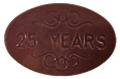 25 Years Chocolate Oval