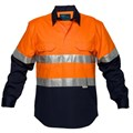 Cotton Drill Shirt with 3M reflective tape, CLOSED front in 7XL