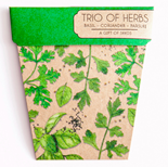 Trio of Herbs Gift of Seeds Hug - Gift Card