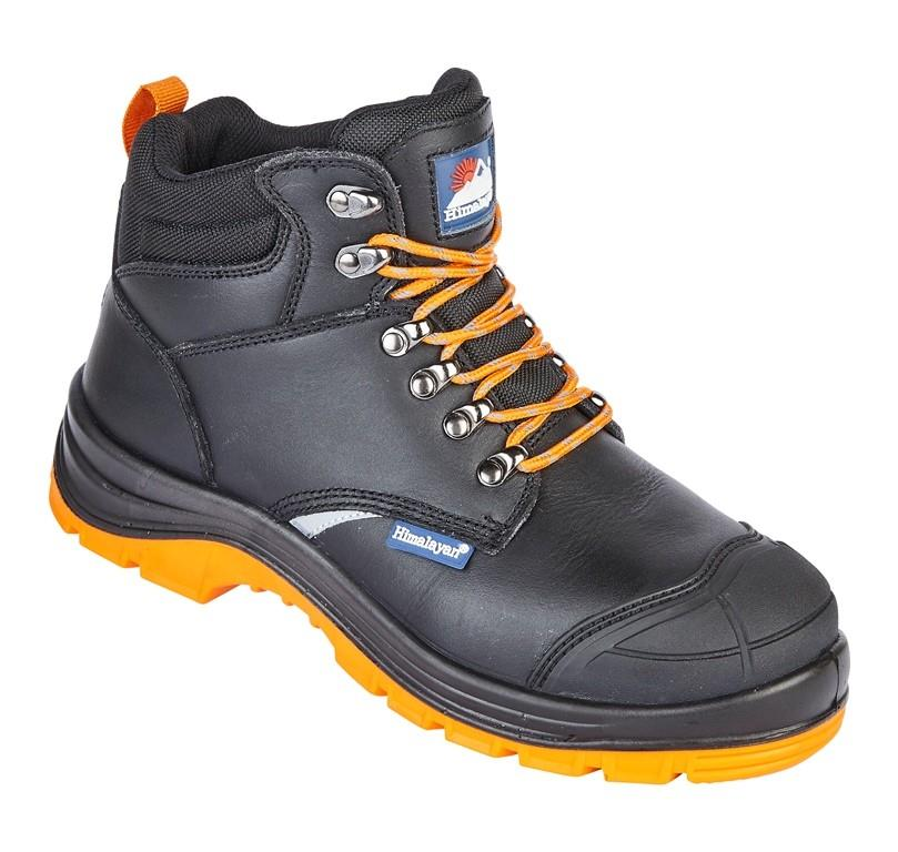 S1P SRC - Himalayan Black Leather Upper Reflecto Safety Boot - Conforms to  EN ISO 20345 2011 - BR-5400 d8623b062