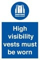 High Visibility Vests Sign - 200 x 300Hmm - Rigid Plastic - [AS-MA201-RP]