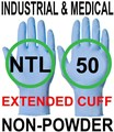 Nitrile - Food Safe - BluePro Xtra - Blue Extended Cuff Industrial And Medical Powderfree Gloves - Conforms to EN374-2 EN374-3 EN455 EN420 - Pair - UC-DG-BLEUPRO-XTRA