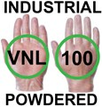 Supertouch - Clear Industrial Powdered Vinyl Gloves - FOOD SAFE 2002/72/EC - Box of 50 Pairs - ST-11101