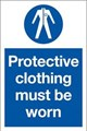 Protective Clothing Must be Worn Sign - 200 x 300Hmm - Rigid Plastic - [AS-MA39-RP]