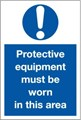 Protective Equipment Area Sign - 200 x 300Hmm - Rigid Plastic - [AS-MA31-RP]