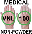 Supertouch - Clear Medical Powderfree Vinyl Gloves - FOOD SAFE 2002/72/EC - Conforms to EN455 1-4 - Box of 50 Pairs - ST-11401