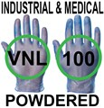 Supertouch - Blue Industrial & Medical  Powdered Vinyl Gloves - FOOD SAFE 2002/72/EC - Box of 50 Pairs - ST-11011