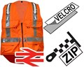 Fhoss FiPATRONUS Orange Illuminated Hi-Vis Safety Vest With Multiple Pockets - Conforms to EN ISO 20471 IP67 ANSI/ISEA 107 CSAZ96:02/09 GO/RT 3279 - FH-FPV-STD-ORG-SML