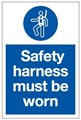 Safety Harness Must be Worn Sign - 200 x 300Hmm - Rigid Plastic - [AS-MA126-RP]