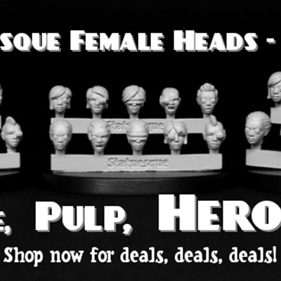 New Statuesque Female Heads - Bionic in three sizes!