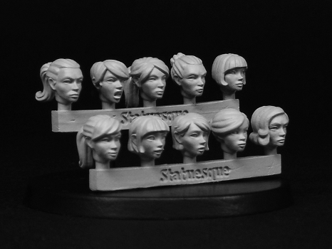 Heroic Scale Female Heads 2 available to Pre-Order now!