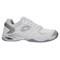 Lotto Raptor Leather Clay Ladies Tennis Shoes white/silver S7322