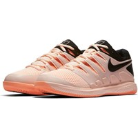 Women's Nike Air Zoom Vapor X Tennis Shoe  AA8027-800 CRIMSON TINT BLACK-ORANGE PULSE