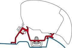 Fiamma F65 awning bracket - VW Crafter (with roof rail)