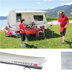 Fiamma Caravanstore 225 awning - Royal Blue canopy