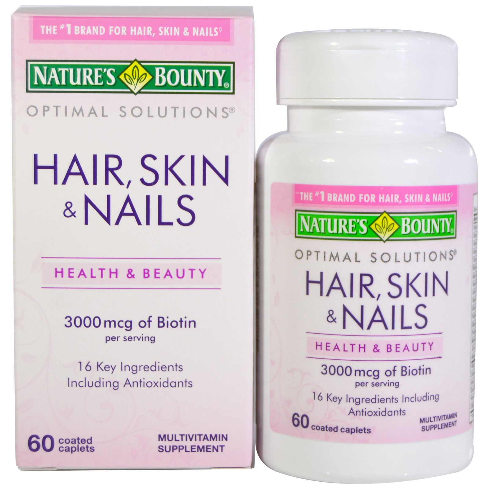 Natures Bounty Hair Skin Nails 60 Coated Caplets