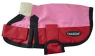 Waterproof Dog Coat 3009 - Pink & Red (Small to medium Dogs)