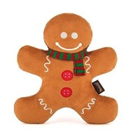 Holiday Classic Holly Jolly Gingerbread Man Dog Toy