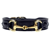 Hartman & Rose Belmont Collar - Black Patent & Gold