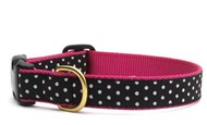 Black & White Dot Dog Collar