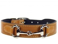 Hartman & Rose Belmont Collar - Buckskin & Nickel