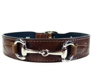 Hartman & Rose Belmont Collar - Rich Brown & Nickel