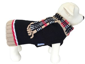 Chelsea Pet Sweater with Scarf 100% Wool/Cashmere