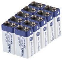 Pro-Elec Alkaline Battery 9V - 10 Pack