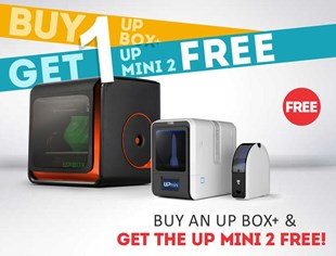 UP Box Plus with FREE UP Mini 2 3D Printer
