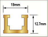 T Track Gold 915mm