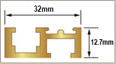 Scale Track Gold 915mm