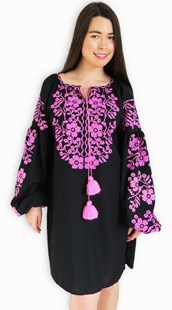 Ladies Long Sleeve Dress Rozovy Rai