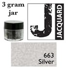 Pearl Ex Mica Powdered Pigments - 3g bottles - SILVER 663