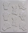 Chocolate Mould 25 - Flowery Shapes