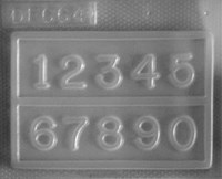 Resin Numbers Jewellery Mould    RM 1664