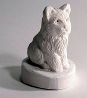 LM 1005 Cat Sitting Latex Mould/Mold for Plaster/candle/Soap/Concrete