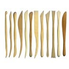 Pack of 12 Wooden Clay Tools