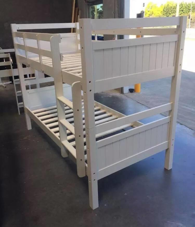 King single bunk beds : Bunk bed king single solid white new goingbunks