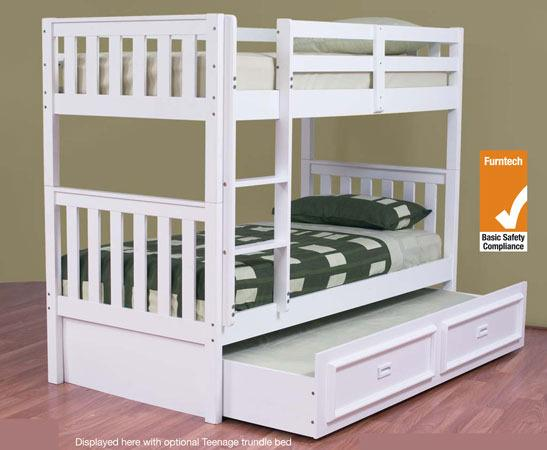 Bunk Bed King Single Solid White New Goingbunks Biz