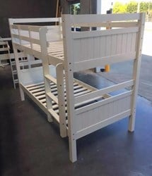 Bunk bed King single SOLID white solid bunk  NEW