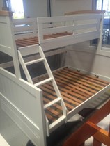 Bunk bed double single + trundle+ mattresses SOLID NEW